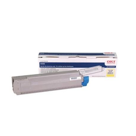 Toner Amarillo para C830, Rend. 8000 PAG. NP. 44059109